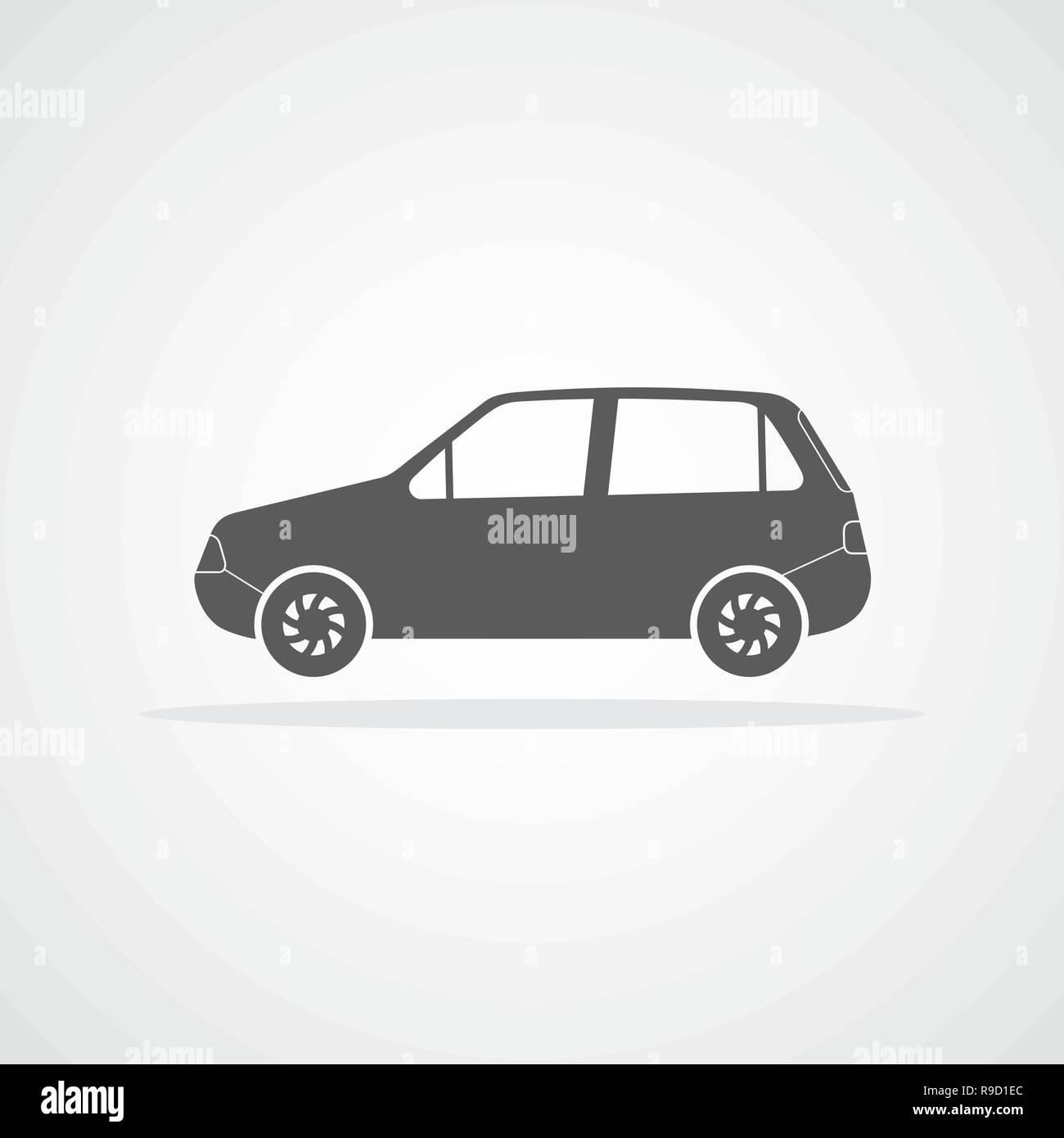 car icon vector illustration gray car icon R9D1EC