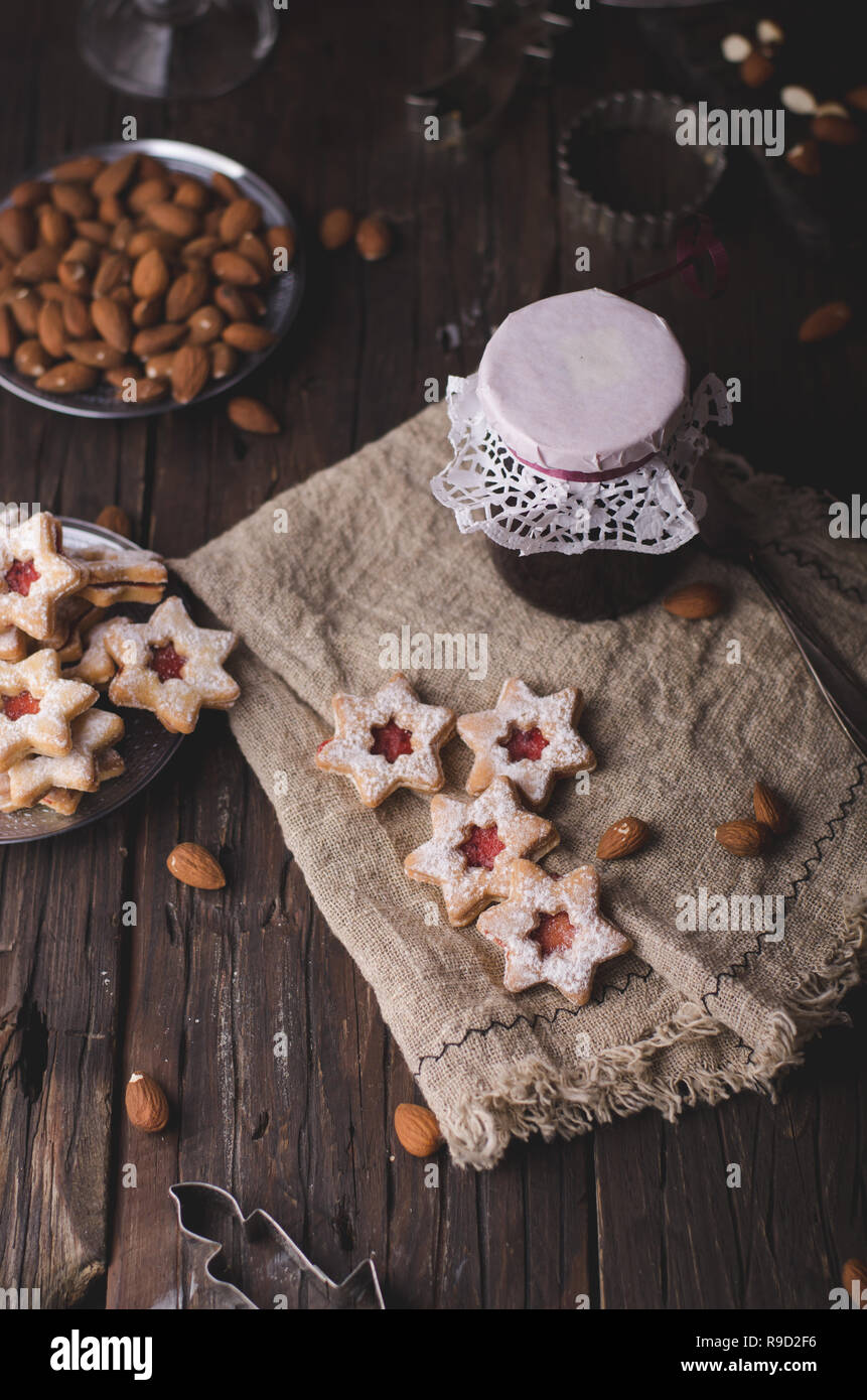Christmas Time Homemade Christmas Cookies Vintage Style Delicious