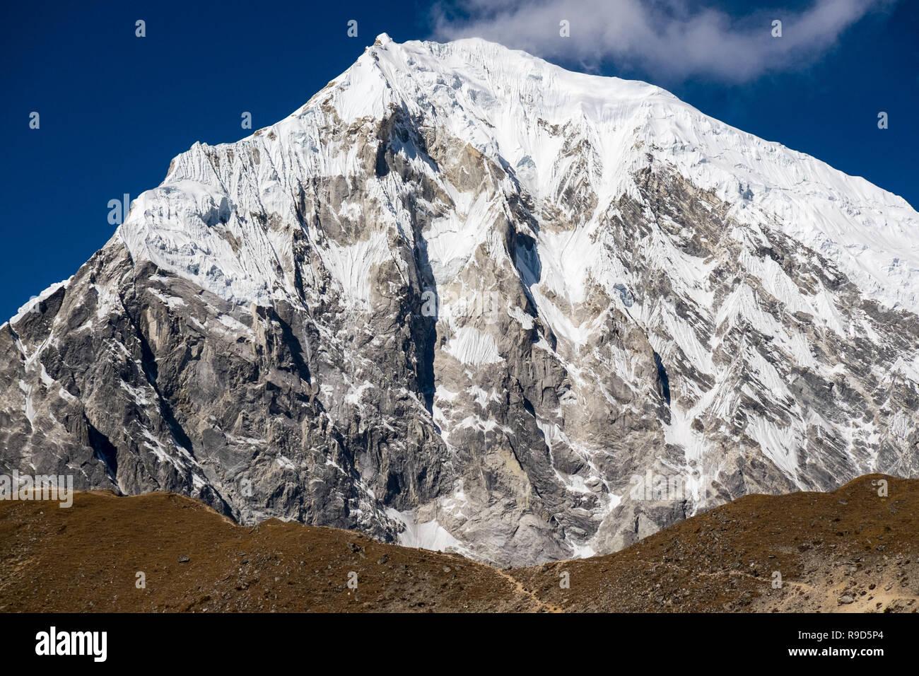 The Langtang Himalayas and the popular viewpoint of Kyanjin Ri, Nepal - Stock Image