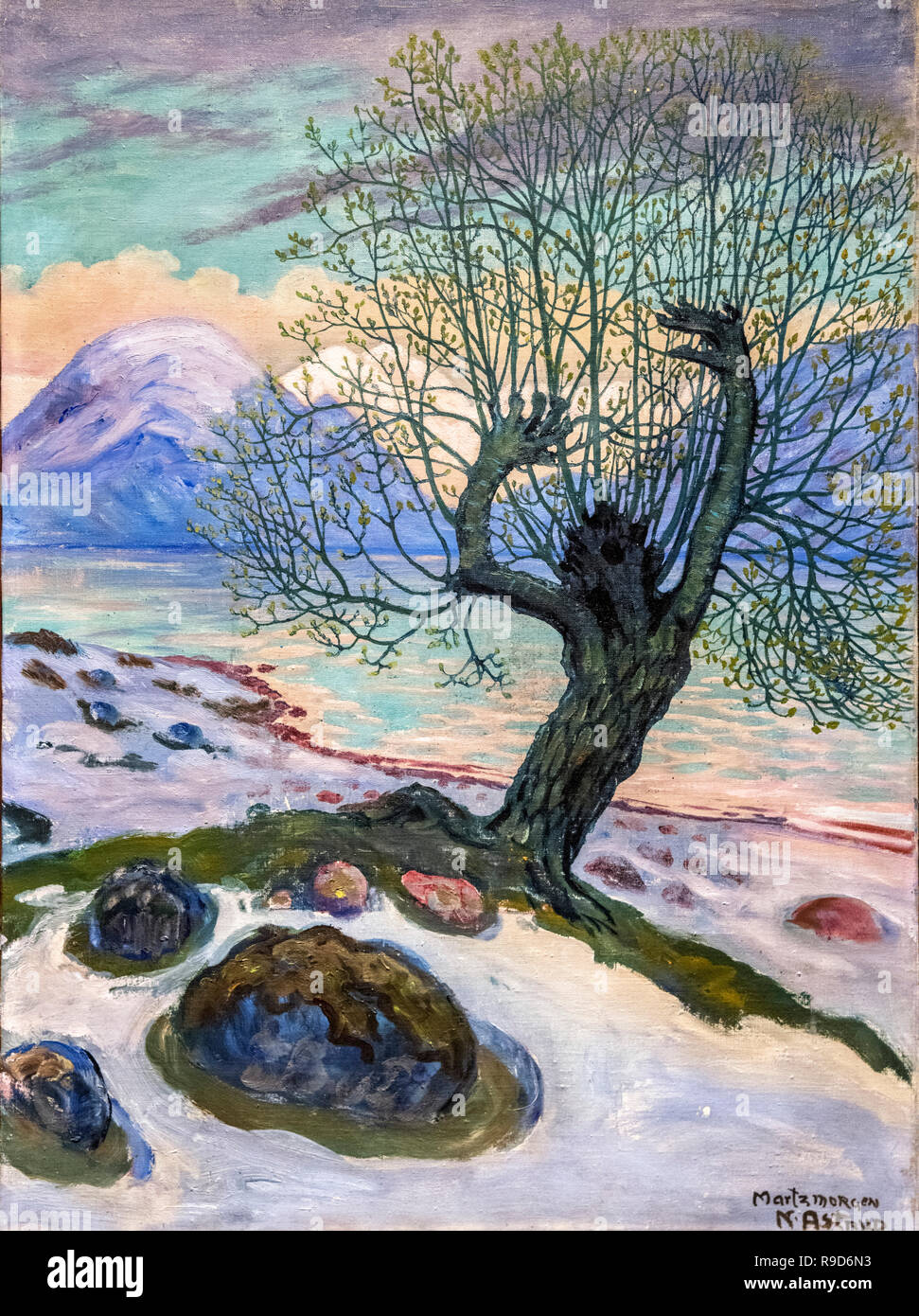 Marsmorgen - A Morning in March by Nikolai Astrup (1880-1928), oil on canvas, c.1920 - Stock Image