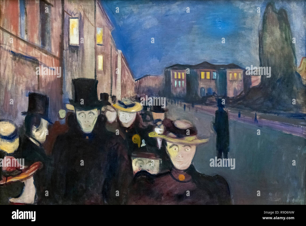 Evening on Karl Johan by Edvard Munch (1863-1944), oil on canvas, 1892 - Stock Image