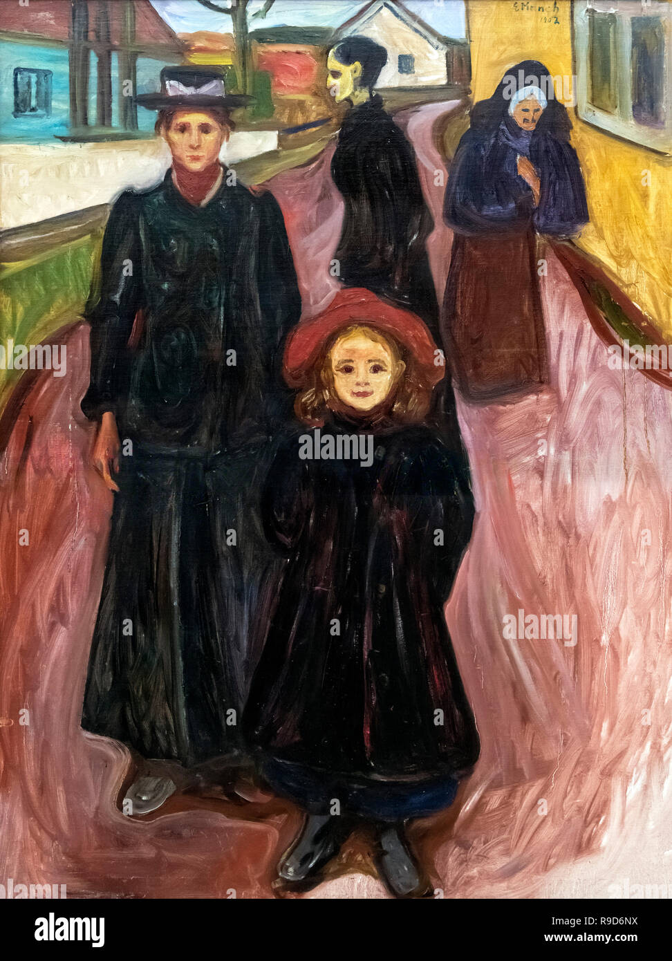 Four Stages of Life by Edvard Munch (1863-1944), oil on canvas, 1902 - Stock Image