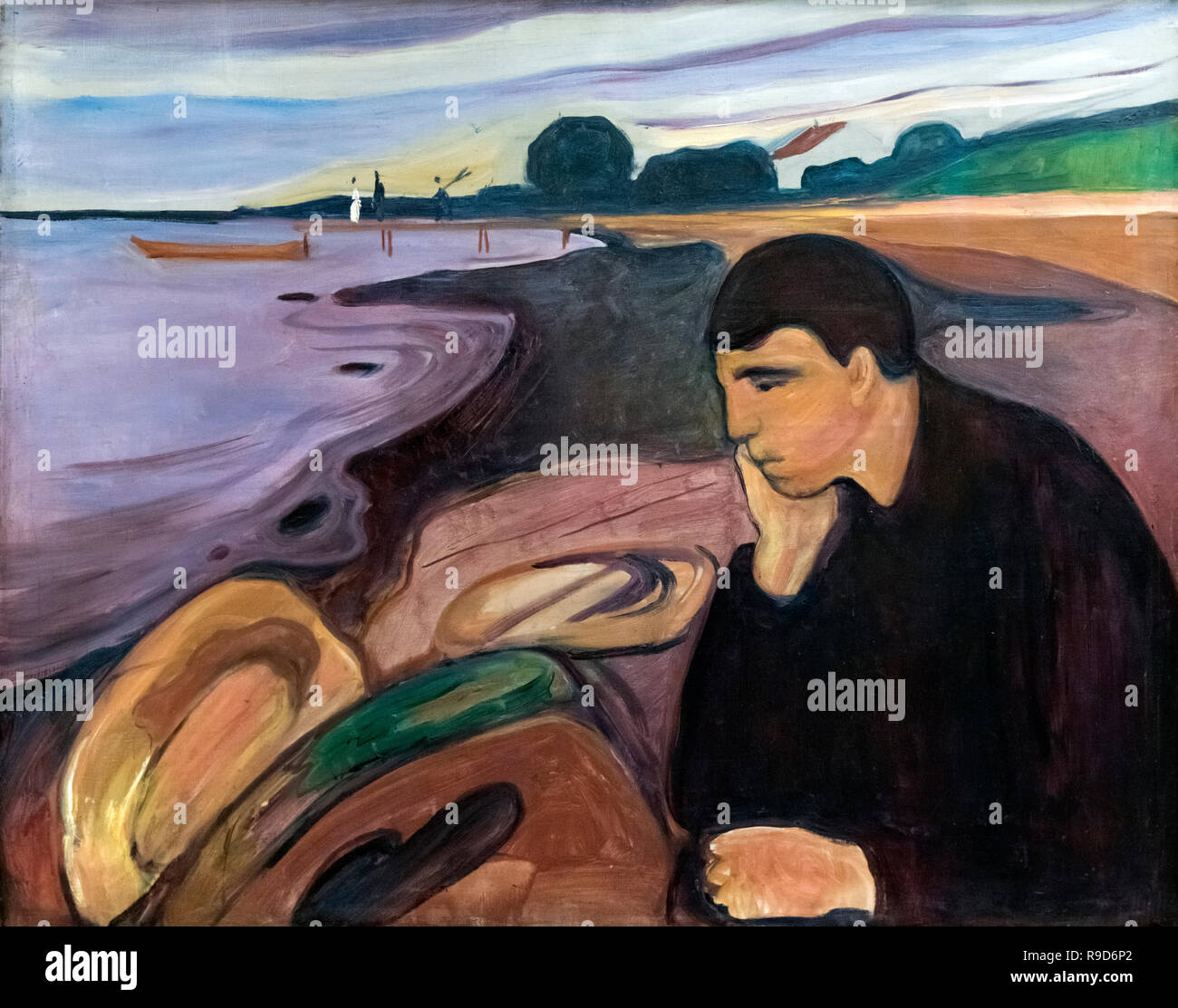 Melancholy by Edvard Munch (1863-1944), oil on canvas, 1894-6 - Stock Image