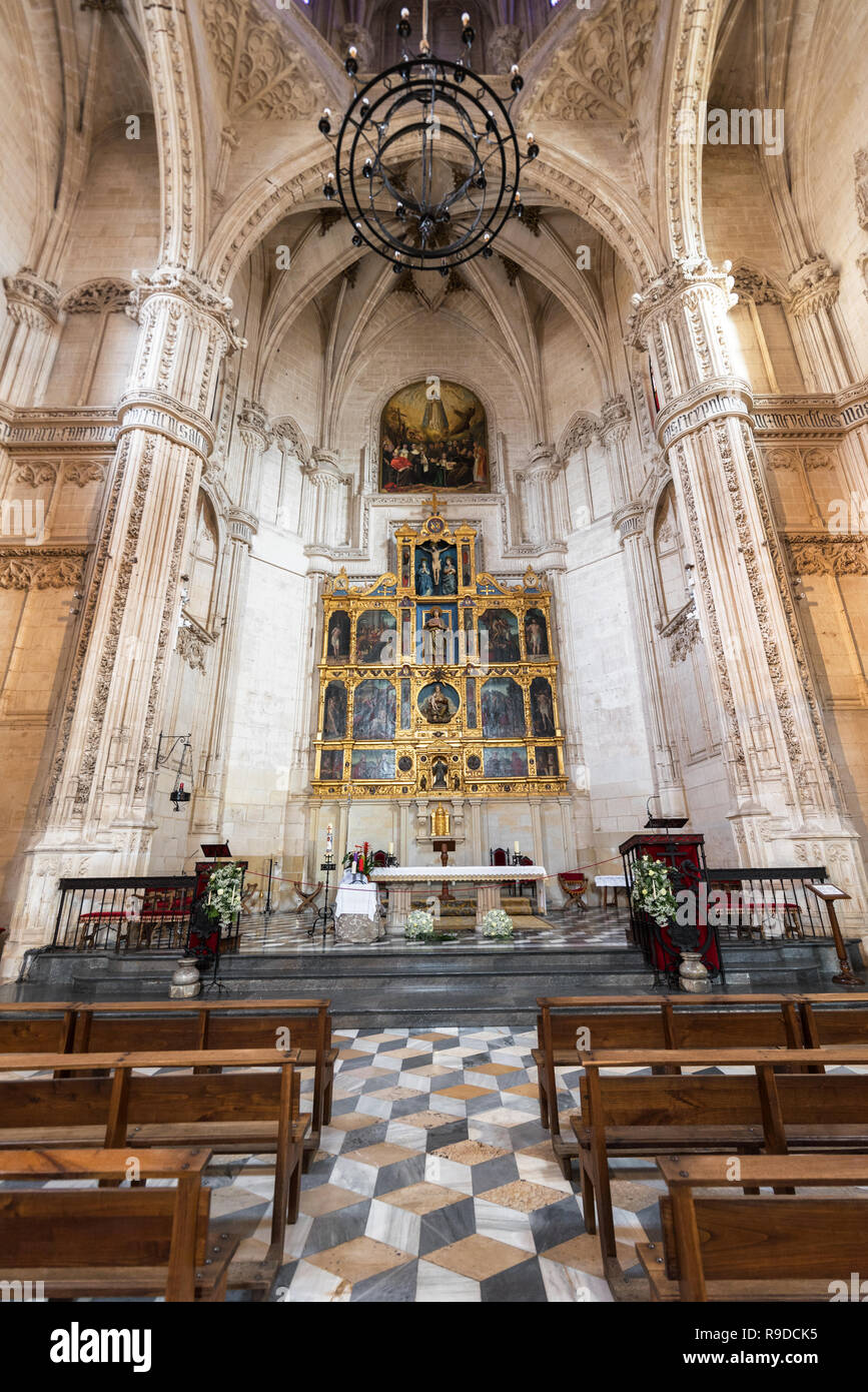 Toledo, Spain - December 16, 2018: Interior of the Monastery of San Juan de los Reyes in Toledo, Castilla la Mancha, Spain. - Stock Image
