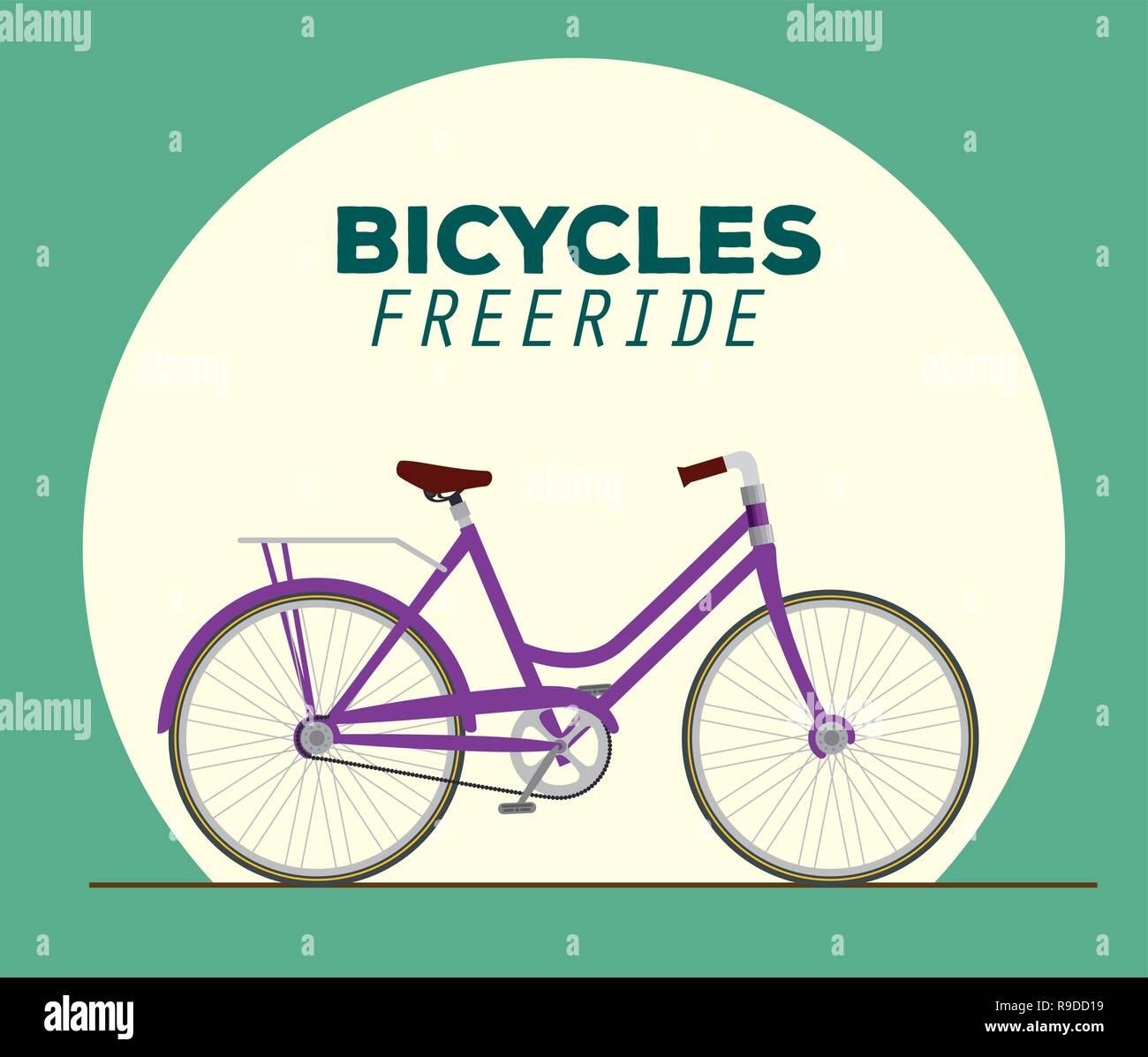 bicycle design transport vehicle to freeride - Stock Image