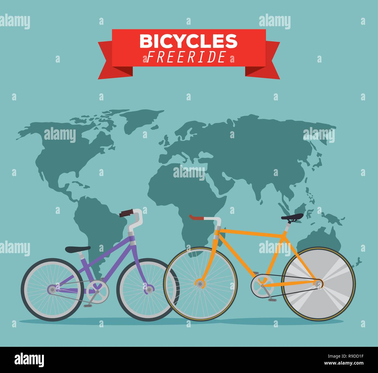 bicycles transport vehicle to freeride in the world - Stock Image