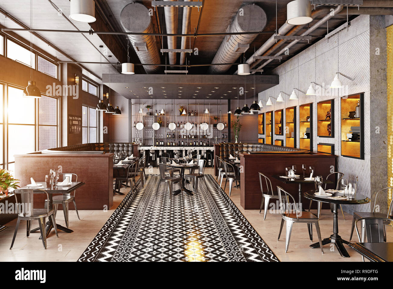 modern restaurant interior design 3d rendering concept stock photo rh alamy com modern chinese restaurant concept modern restaurant concepts linkedin
