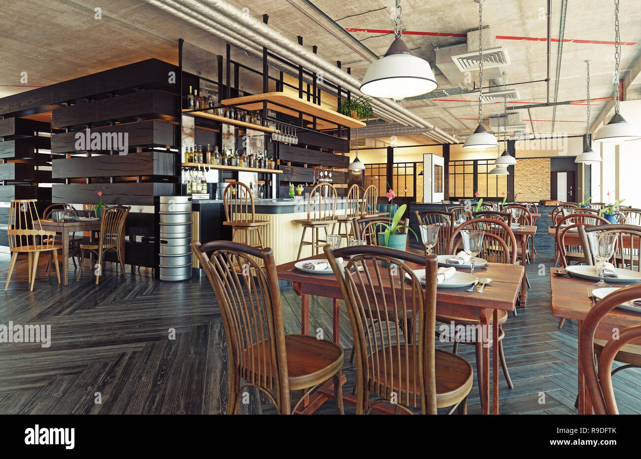 modern restaurant interior design 3d rendering concept stock photo rh alamy com  modern indian restaurant concept