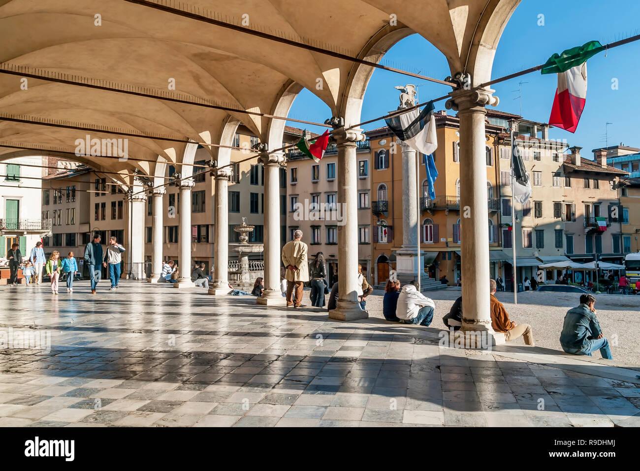 The beautiful Loggia di San Giovanni in the historic center of Udine, Friuli Venezia Giulia, Italy Stock Photo