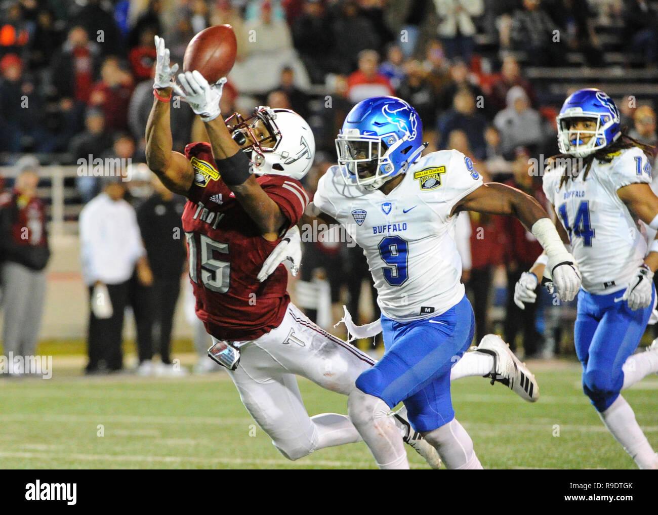 Mobile, AL, USA  22nd Dec, 2018  Troy wide receiver, Damion