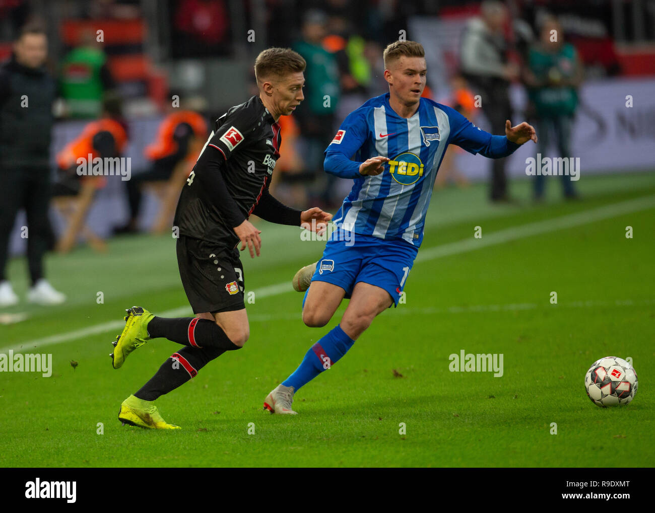 Leverkusen, Germany. 22nd Dec, 2018.  Bundesliga, Bayer 04 Leverkusen - Hertha BSC Berlin: Credit: Juergen Schwarz/Alamy Live News - Stock Image