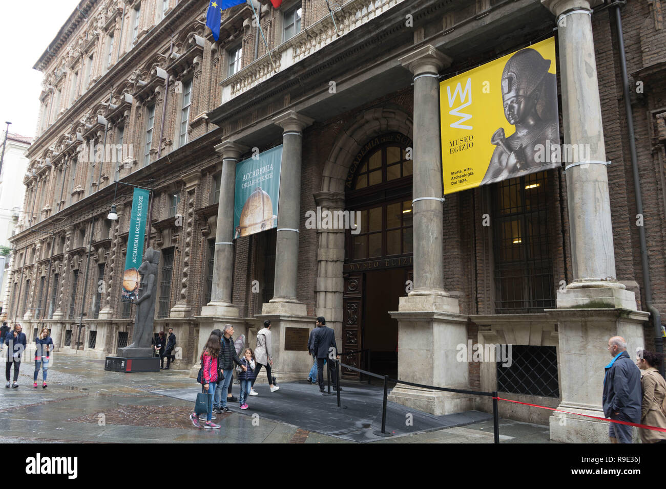 View of Turin, Egyptian Museum - May 2018 - Stock Image