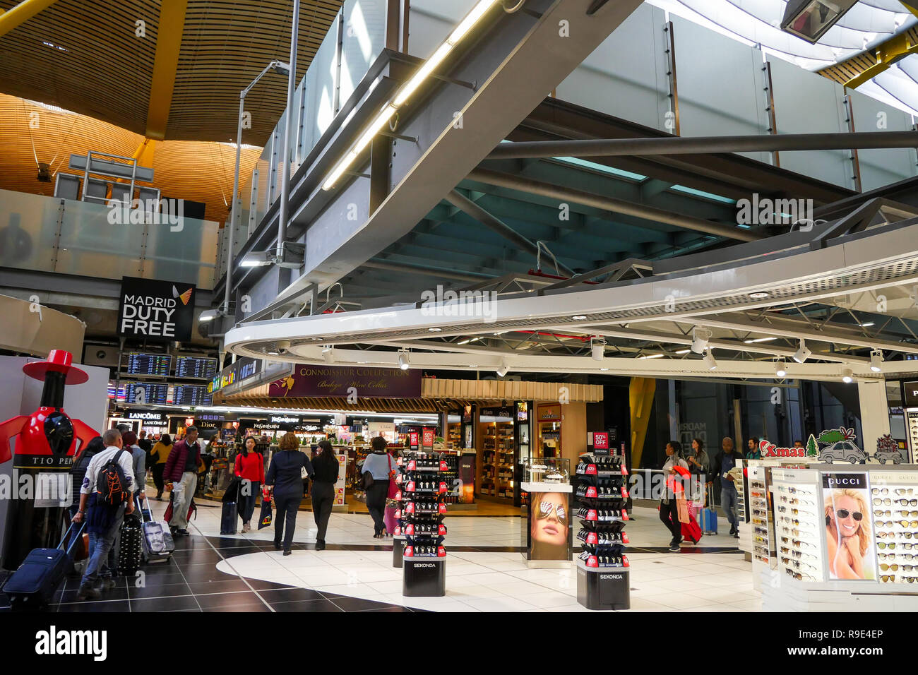 International Airport Adolfo Suárez Madrid-Barajas, Madrid, Spain - Stock Image