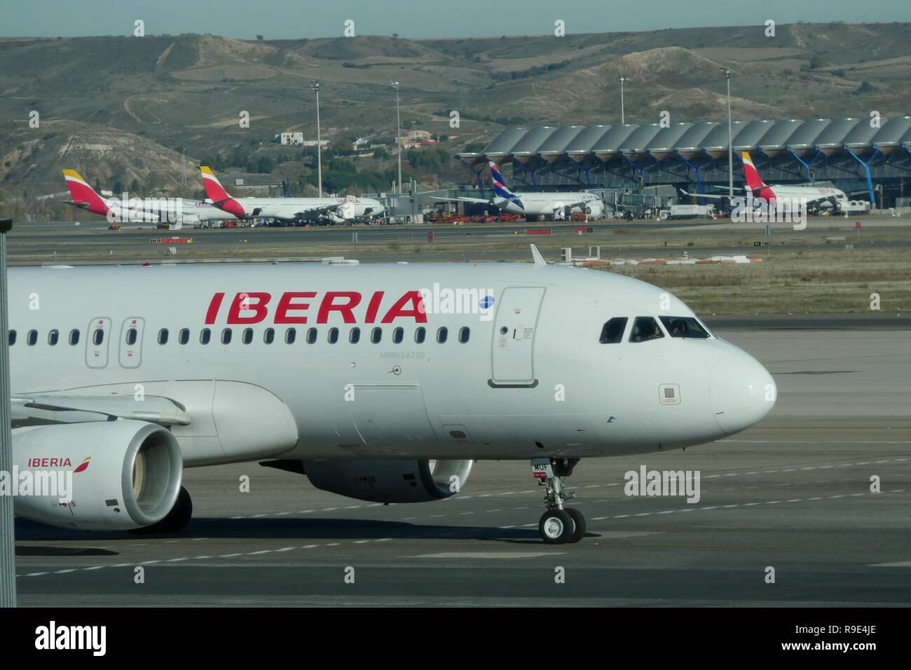 International Airport Adolfo Suárez Madrid-Barajas, Madrid, Spain Stock Photo