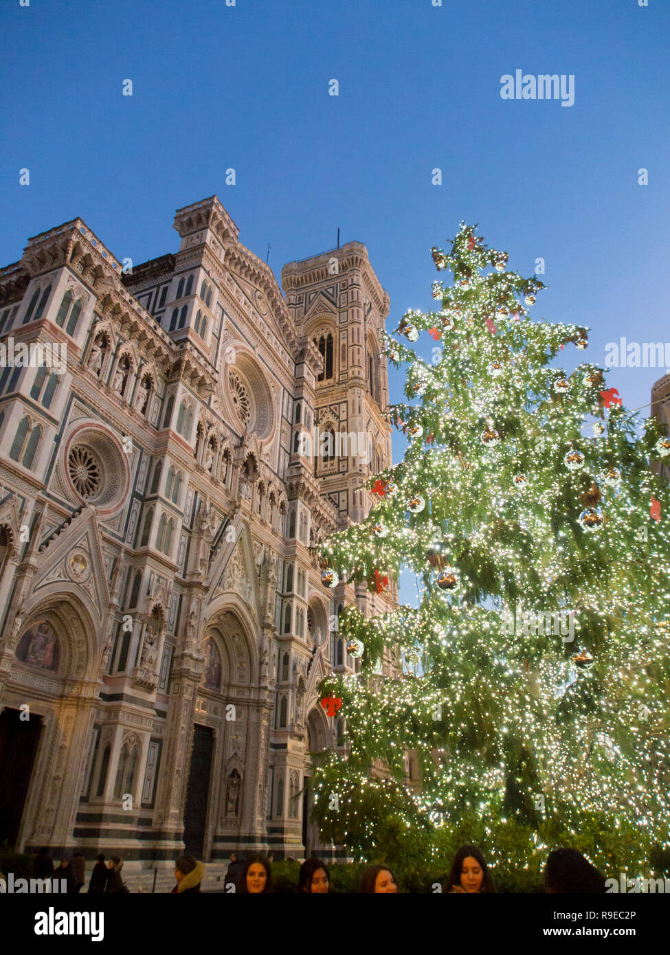 Christmas In Florence Italy.Italy Tuscany Florence The Cathedral At Christmas Time