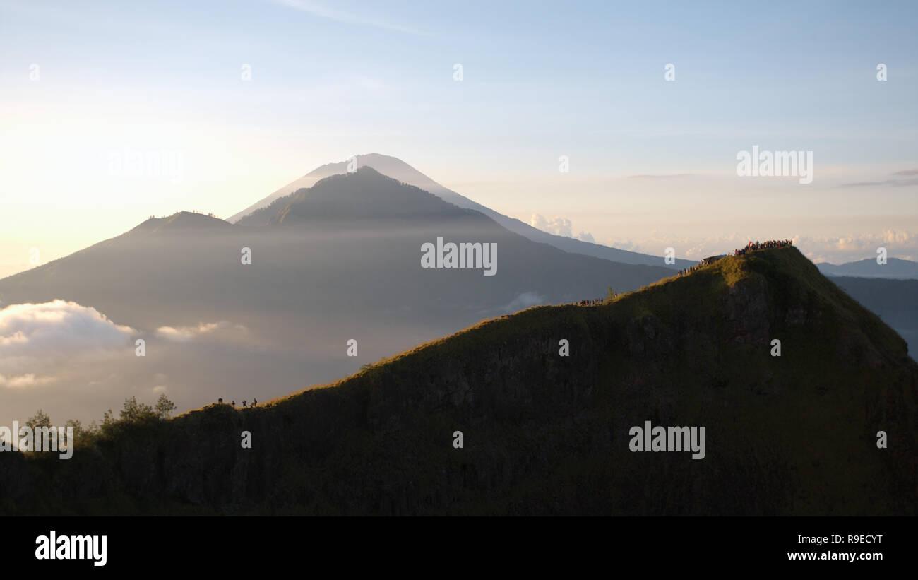 View Agung volcanoe of Bali Island, Indonesia before eruption Stock Photo