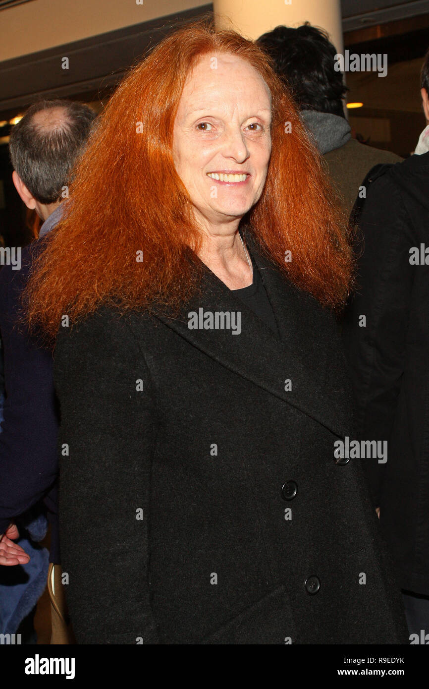 NEW YORK - FEBRUARY 13:  Grace Coddington, Vogue's Creative Director attends the Band of Outsiders Fall 2010 presentation during Mercedes-Benz Fashion Week at Milk Studios on February 13, 2010 in New York City.  (Photo by Steve Mack/S.D. Mack Pictures) - Stock Image