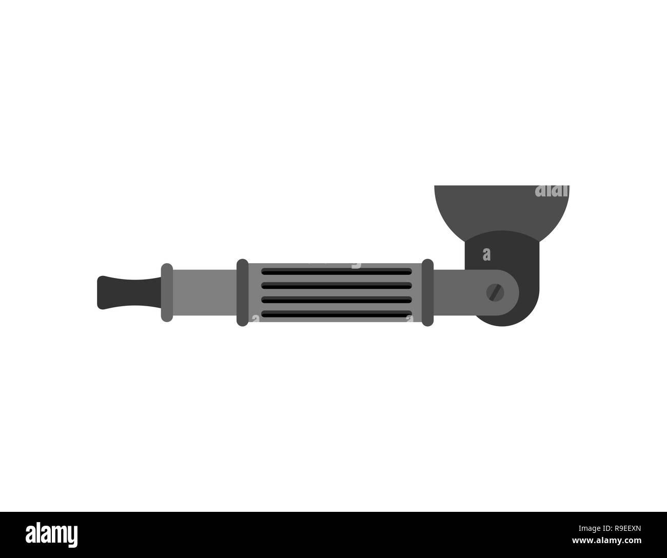 Vape Smoking pipe Electronic cigarette. Vector illustration - Stock Image
