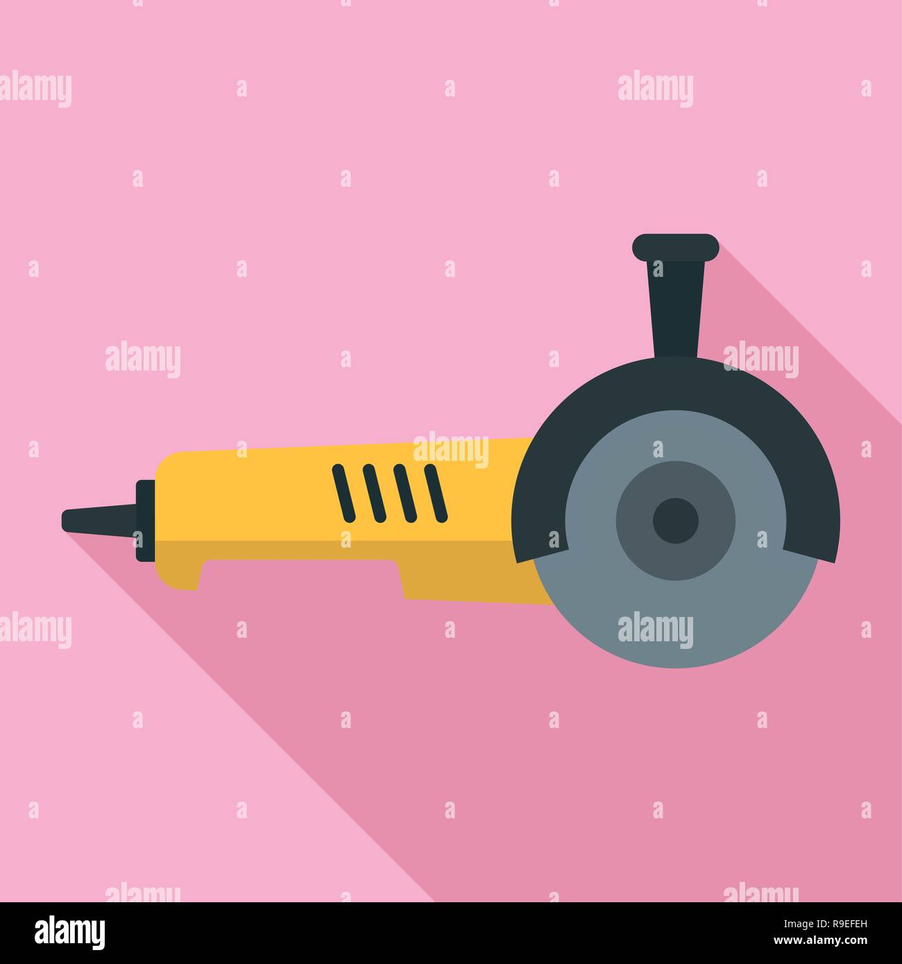 Angle grinder icon. Flat illustration of angle grinder vector icon for web design - Stock Vector