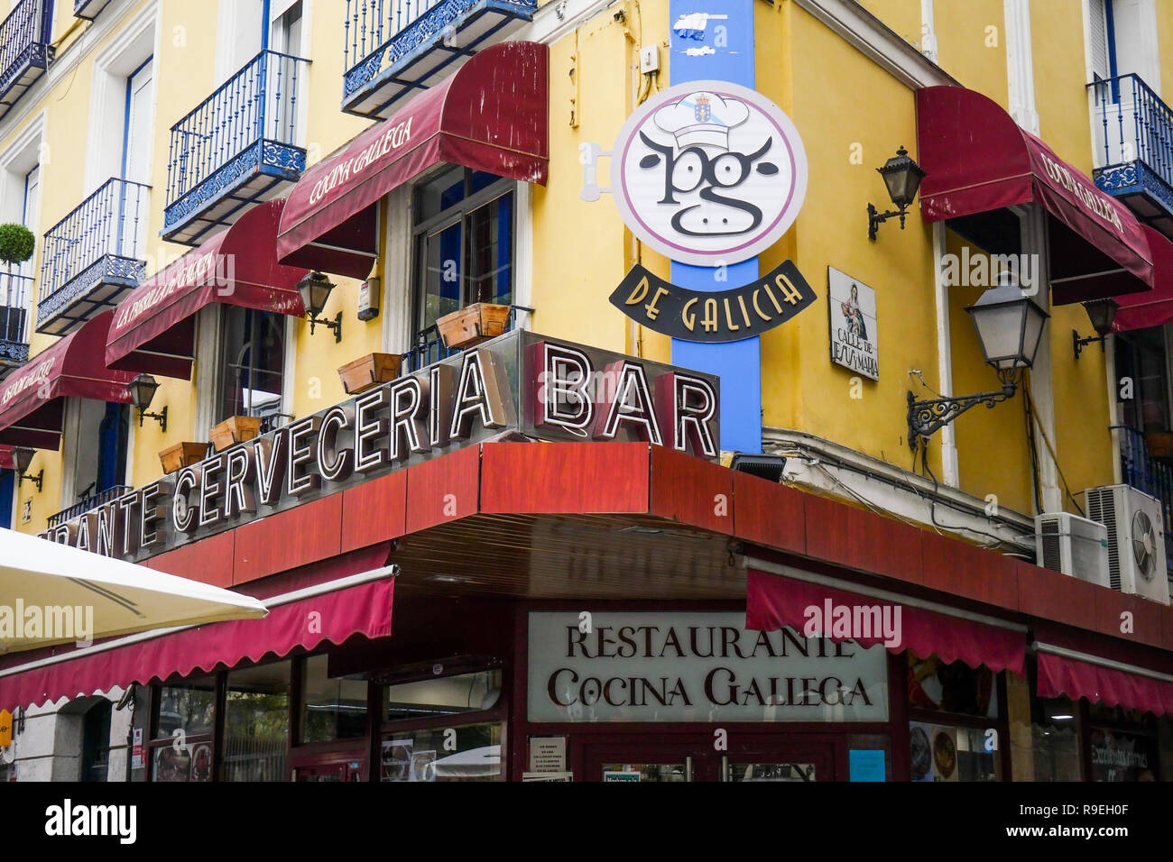 Terrace Bar Madrid Stock Photos Terrace Bar Madrid Stock
