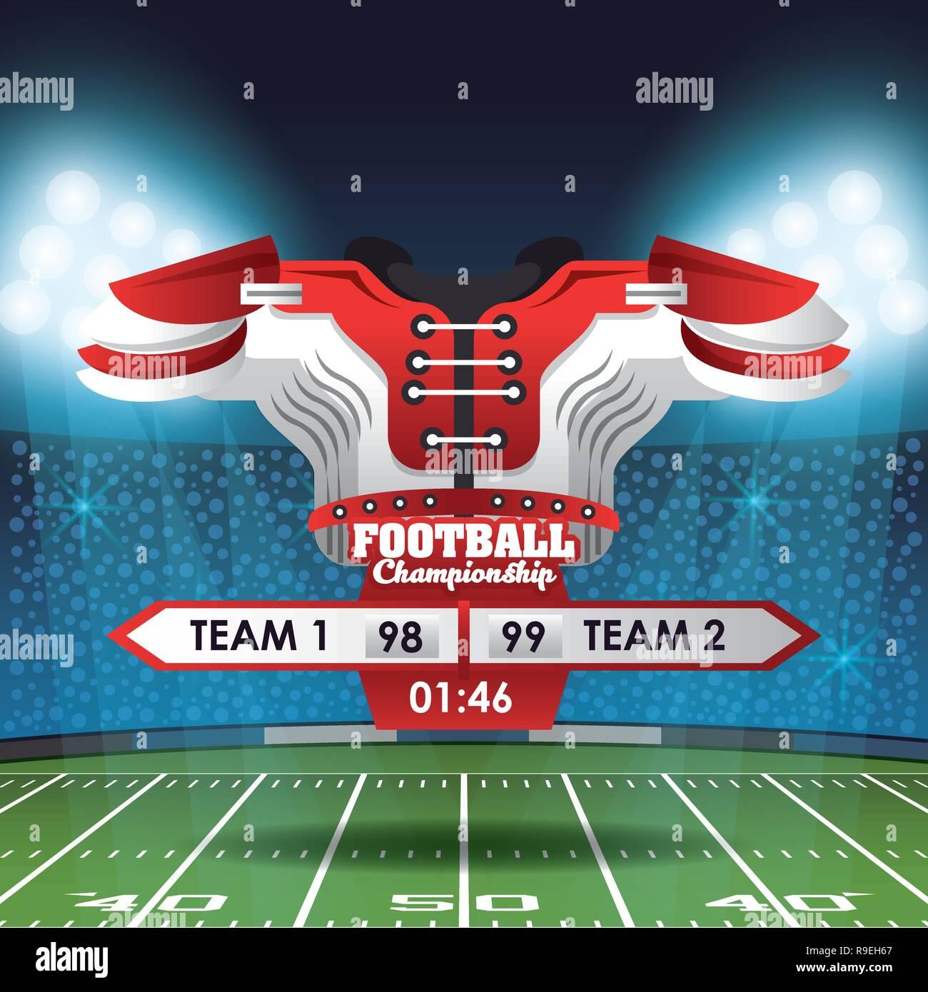 American football championship - Stock Vector