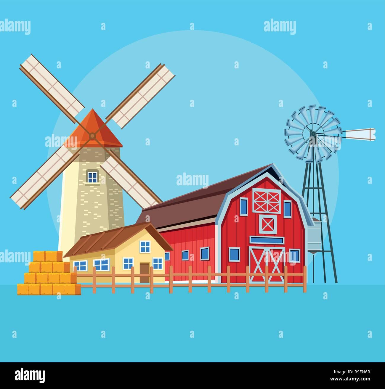 farm barn cartoon stock vector art illustration vector image