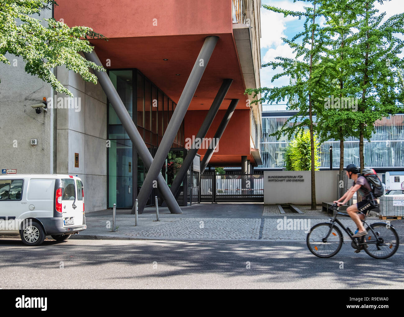Berlin-Mitte.Hannoversche Str. 128-30. Federal Ministry for Economic Affairs and Energy, German Government modern building exterior. - Stock Image