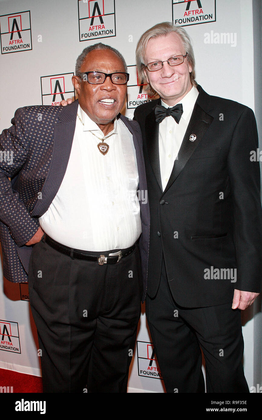 NEW YORK - FEBRUARY 22:  Musician Sam Moore and Radio personality Jim Kerr attends the 2010 AFTRA AMEE Awards at The Grand Ballroom at The Plaza Hotel on February 22, 2010 in New York, New York.  (Photo by Steve Mack/S.D. Mack Pictures) - Stock Image