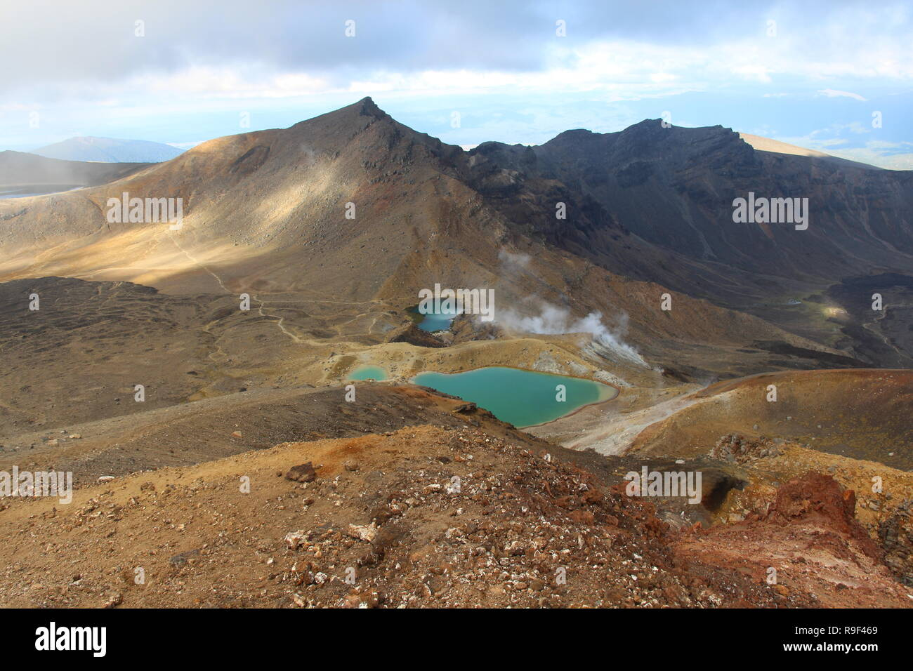 Blue Lakes in the mountains - Stock Image