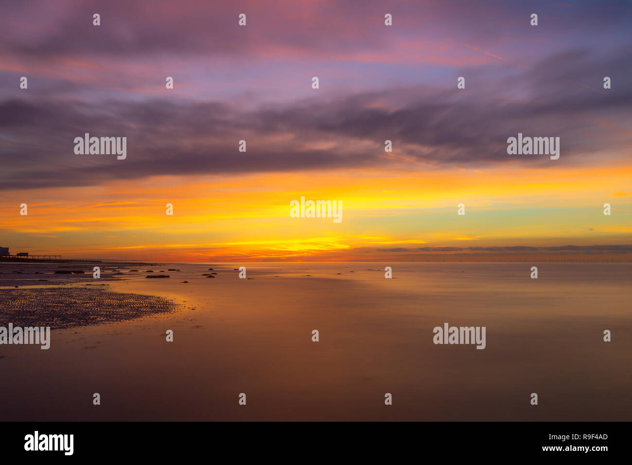 Dawn at Aldwick - Stock Image