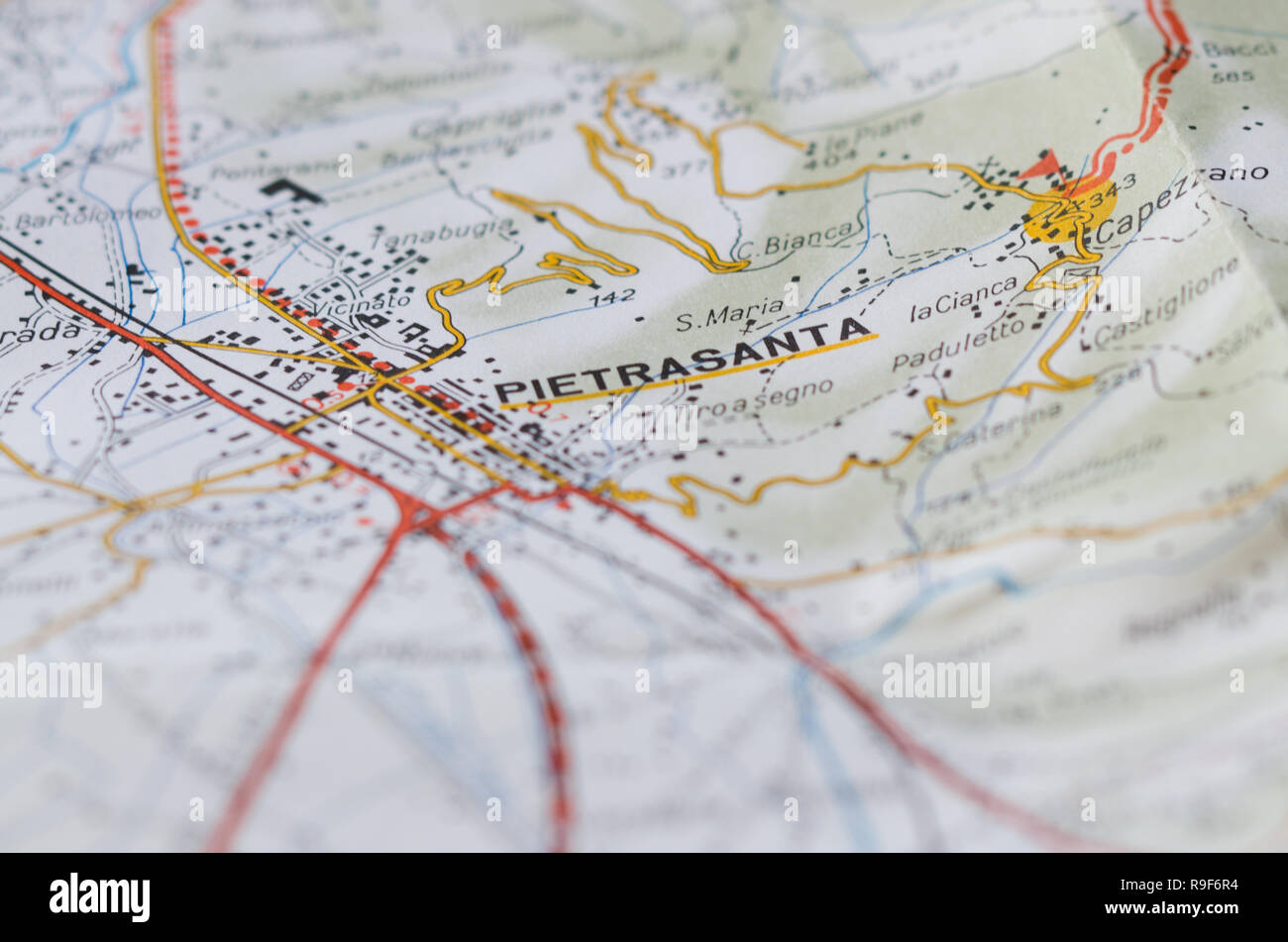Detailed Map Of Tuscany Italy.Detailed Map Of An Italian Town Located In Tuscany Get On The