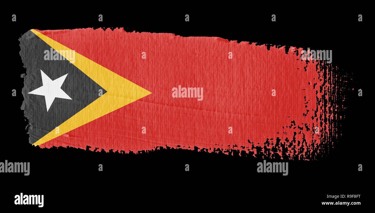 Brushstroke Flag East Timor - Stock Image