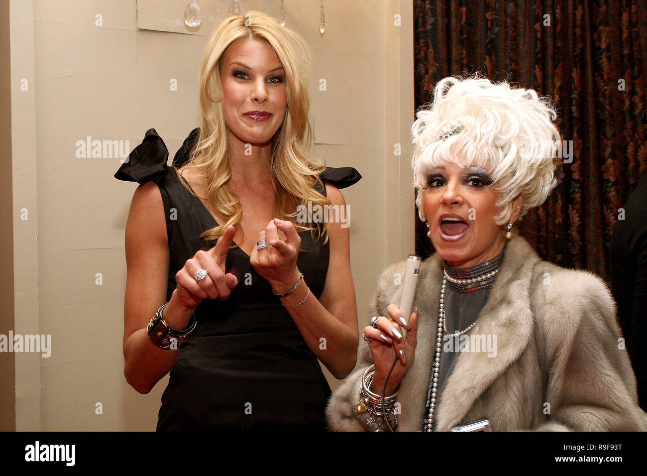 NEW YORK - FEBRUARY 12:  TV Personality Beth Ostrosky-Stern and Cognac Wellerlane attend the North Shore Animal League's Pre-Westminster Fashion Show at the Hotel Pennsylvania on February 12, 2010 in New York City.  (Photo by Steve Mack/S.D. Mack Pictures) Stock Photo