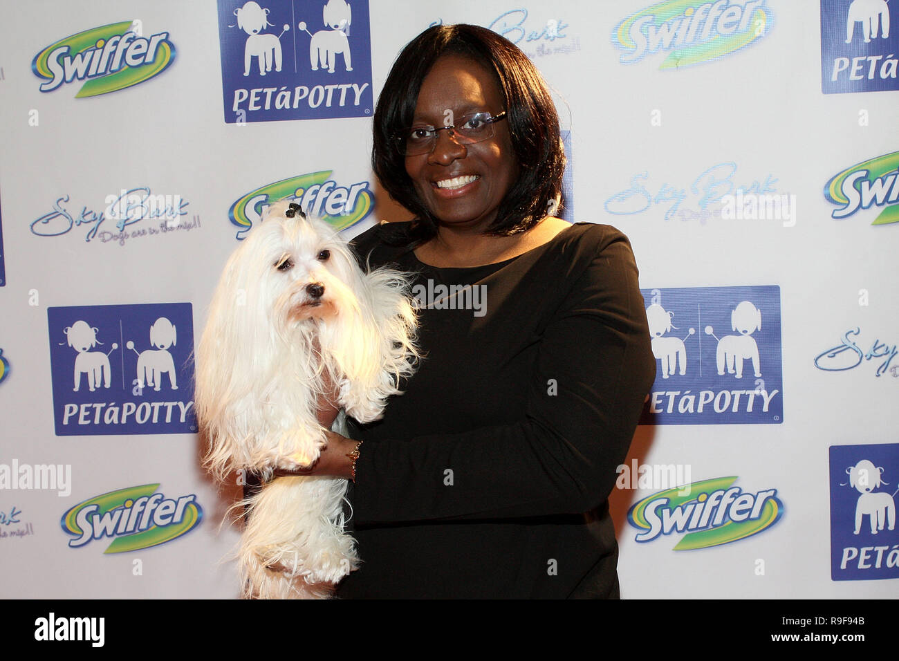"NEW YORK - FEBRUARY 12:  TV Personality Laurie Williams of The ""Greatest American Dog"" TV Show attends the North Shore Animal League's Pre-Westminster Fashion Show at the Hotel Pennsylvania on February 12, 2010 in New York City.  (Photo by Steve Mack/S.D. Mack Pictures) Stock Photo"