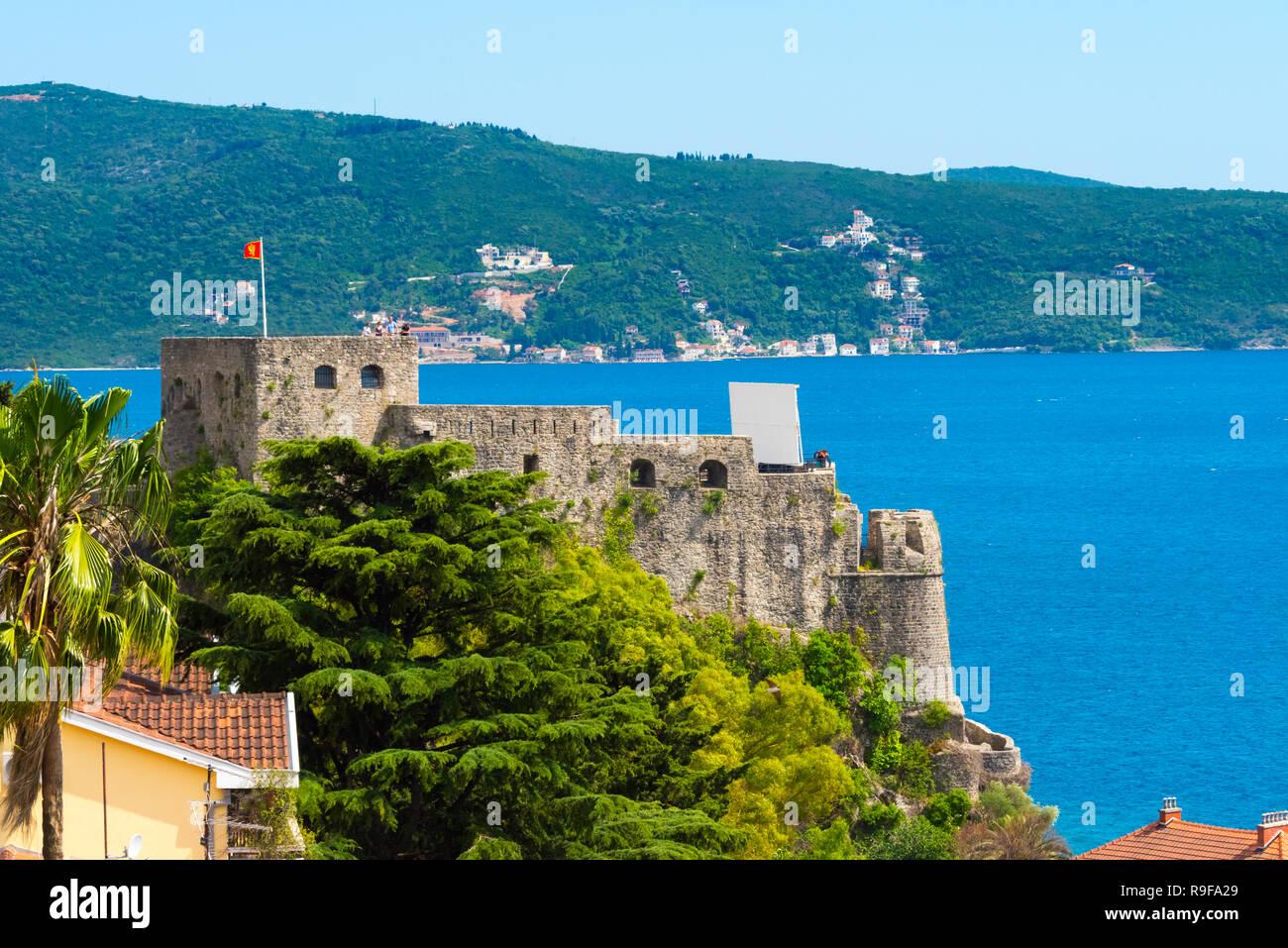 The Fortress of 'Stari Grad' on the Adriatic coast, Herceg Novi, Montenegro - Stock Image