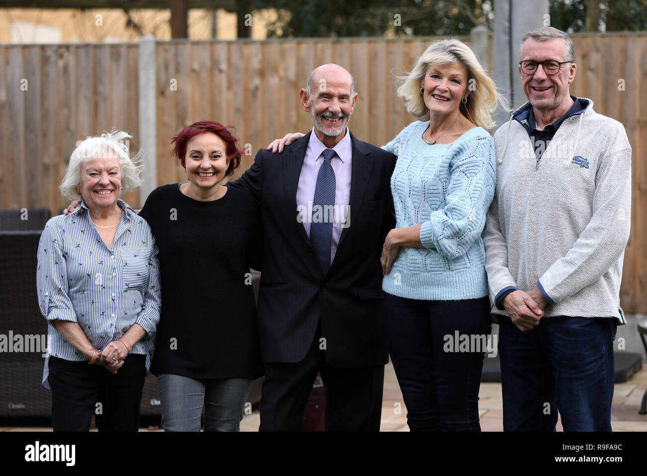 Teresa Dobson (second right) who donated her kidney to Joe