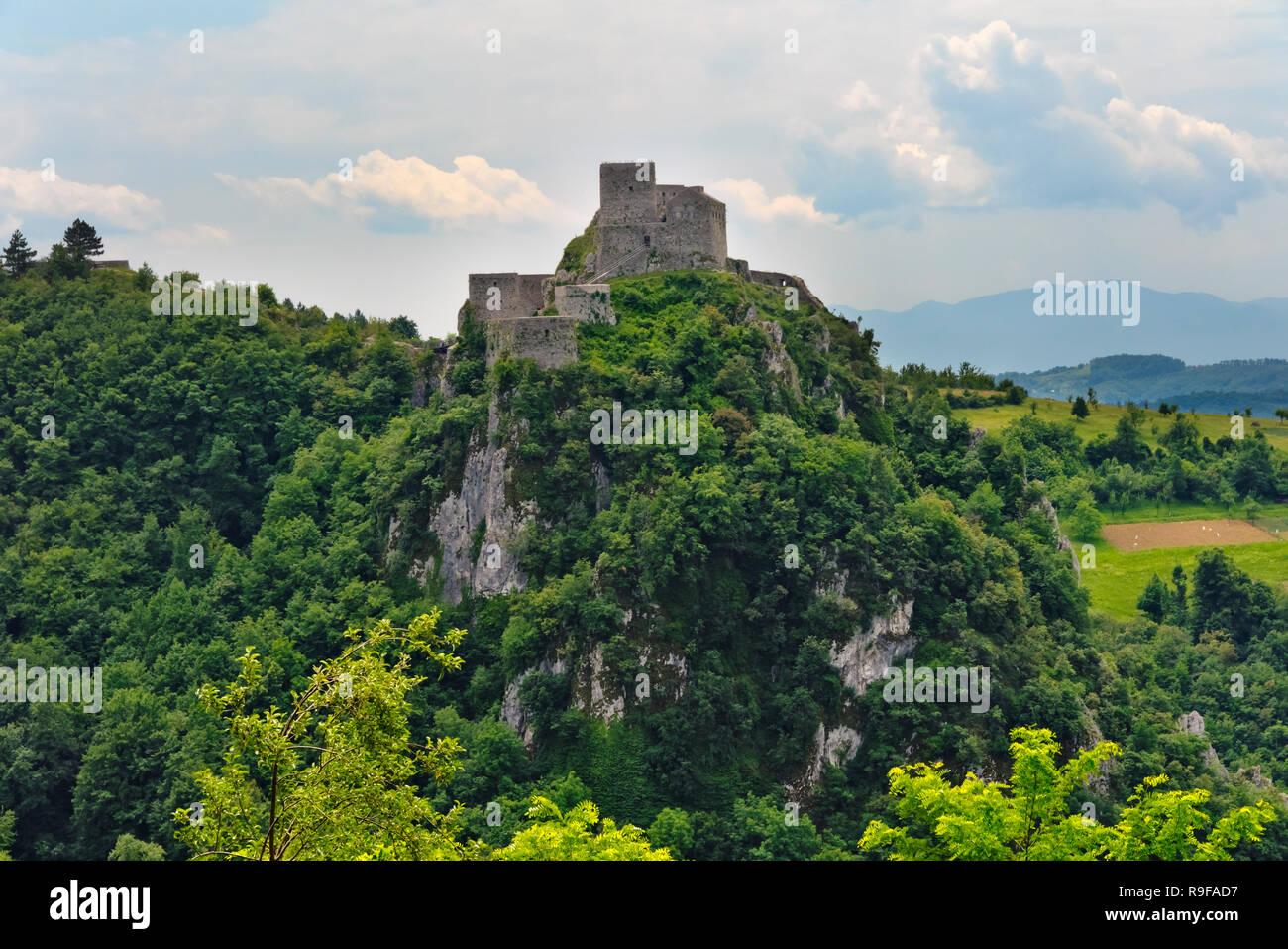 Srebrenik Fortress, Bosnia and Herzegovina - Stock Image