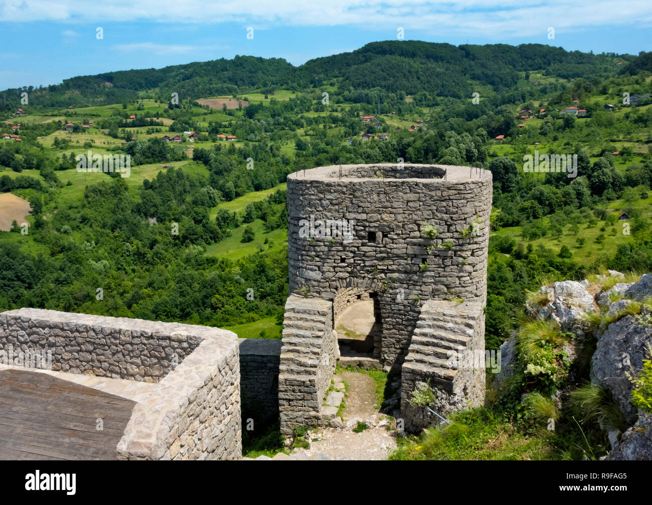 Srebrenik Fortress, Bosnia and Herzegovina - Stock Image