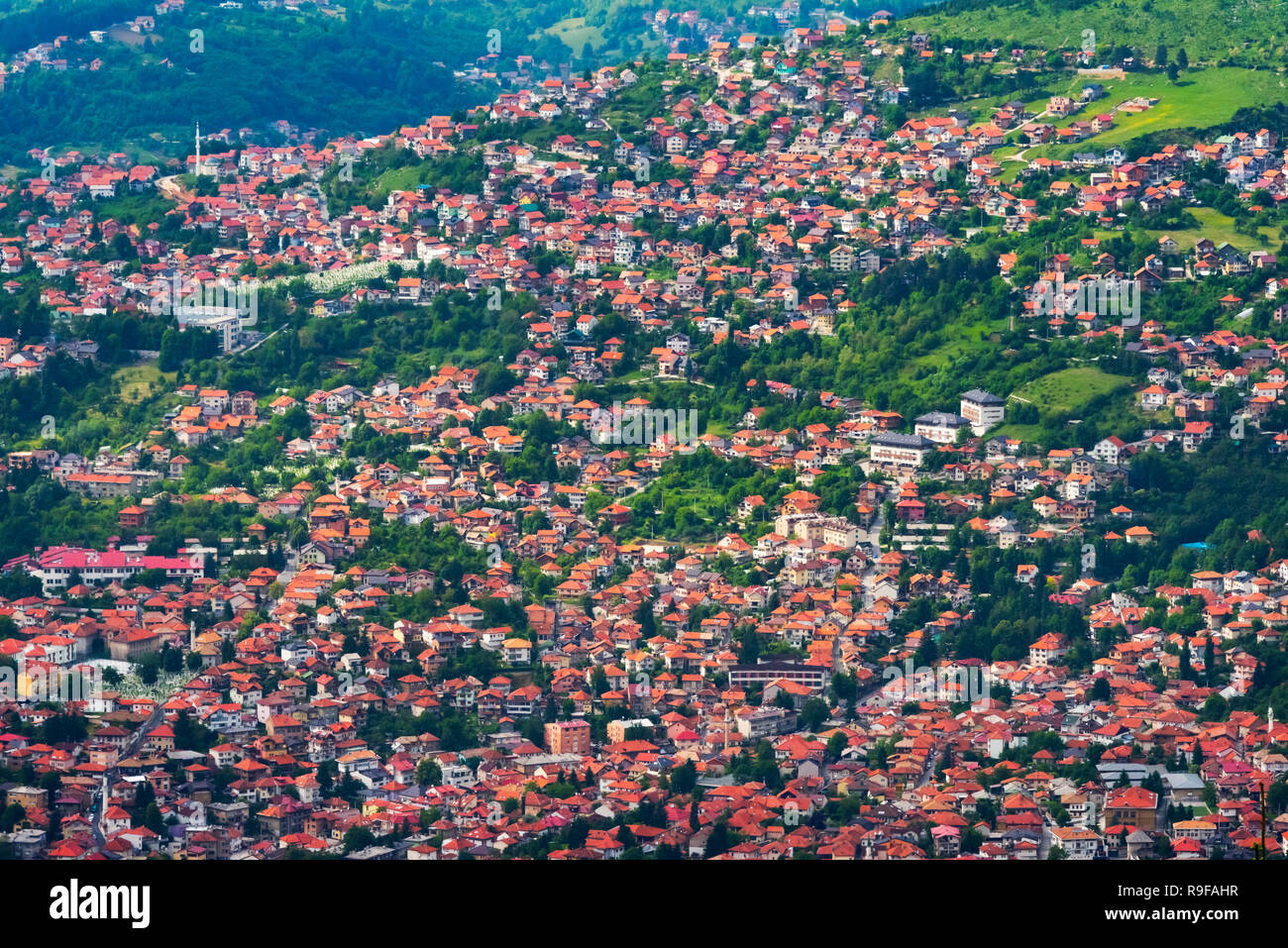 Cityscape of Sarajevo, Bosnia and Herzegovina - Stock Image