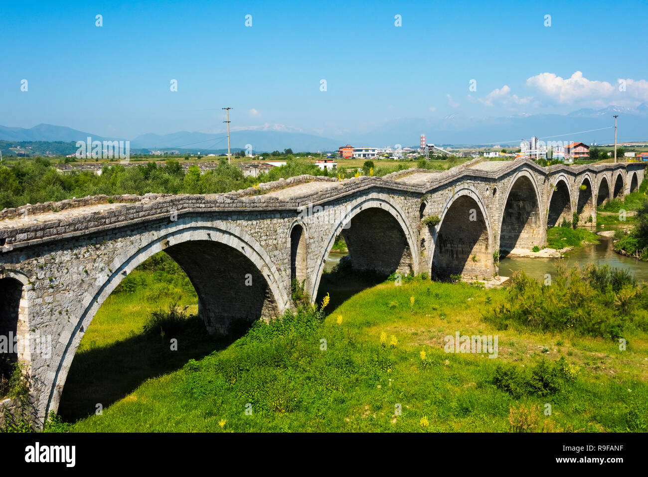 Terzijski Bridge (Tailor's Bridge), an Ottoman bridge, over Erenik river, Gjakova, Kosovo - Stock Image