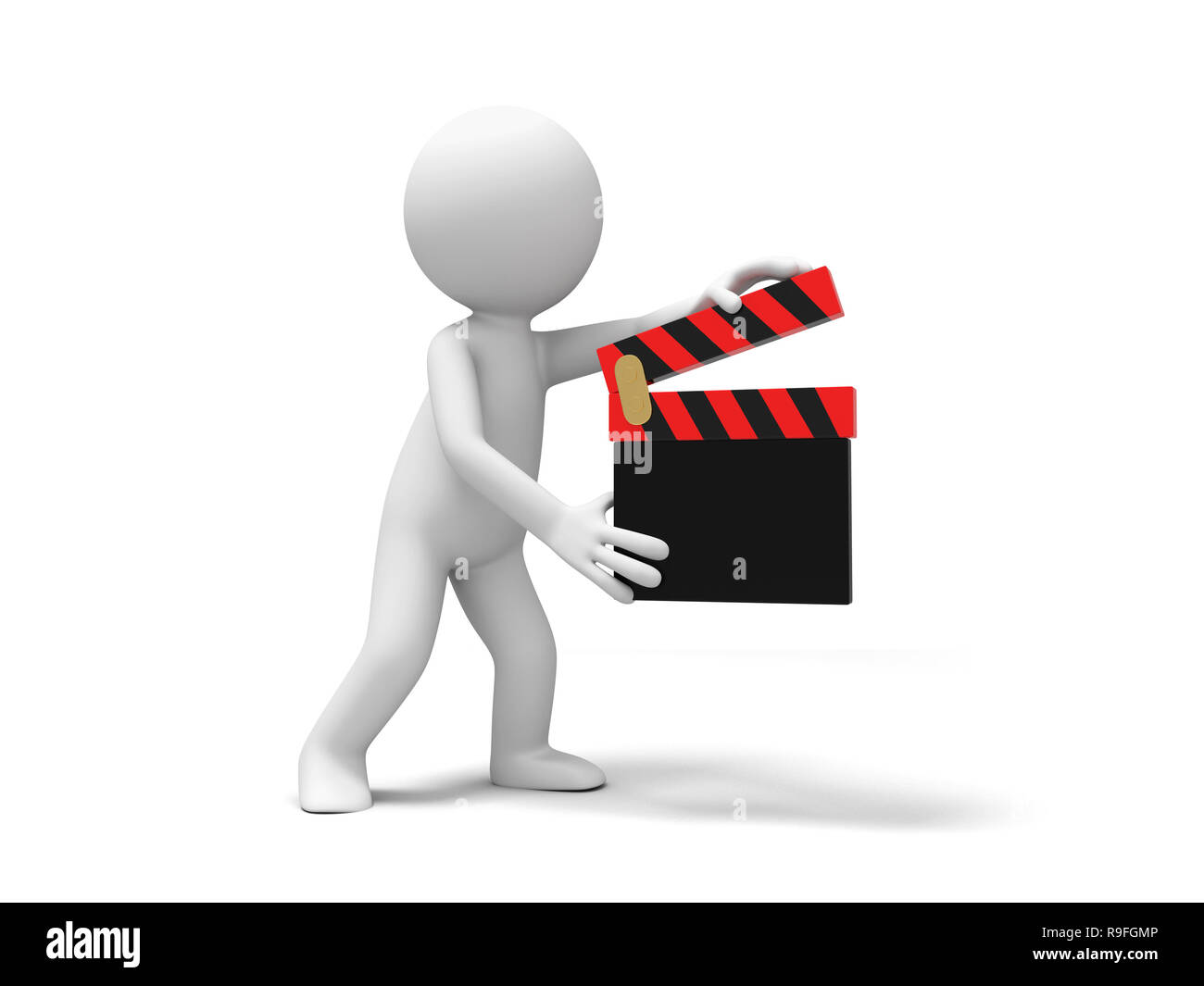 director,clapper,movie A people is holding a clapper Stock Photo
