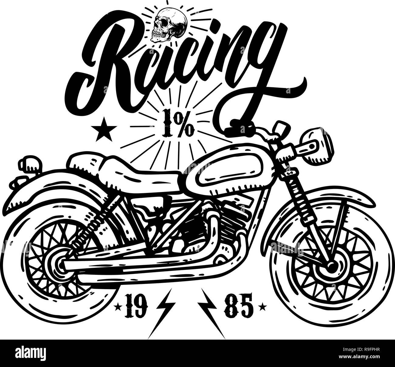 ee9a4951 Emblem template with biker motorcycle. Design element for poster, t shirt,  sign, label, logo. Vector illustration