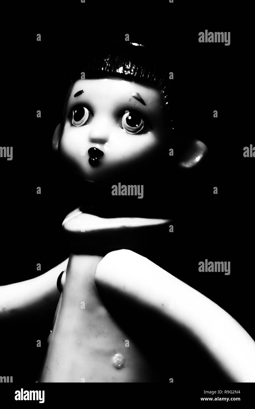 Photo old doll Pierrot - Stock Image