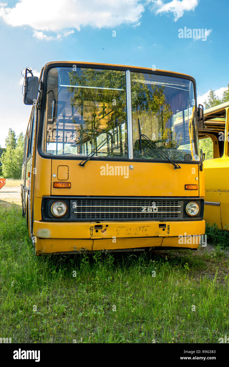 Historic bus front Stock Photo