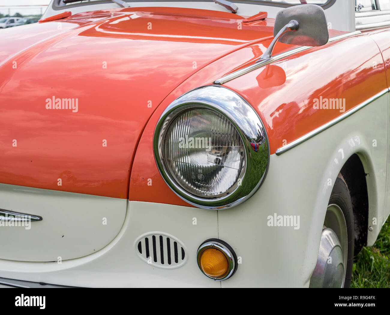 Old GDR classic car Trabant P50 Stock Photo