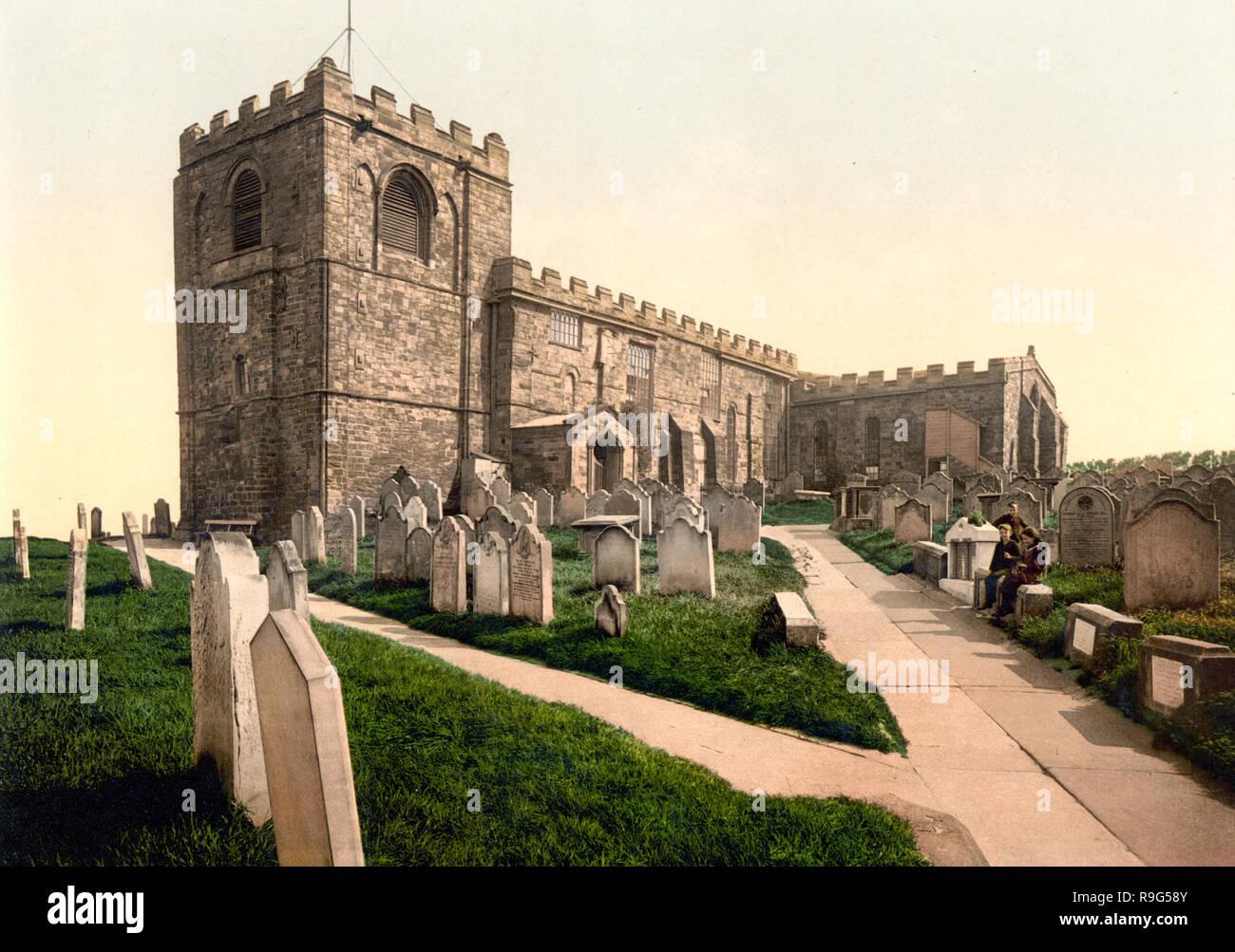 Whitby, St. Mary's Church, Yorkshire, England, circa 1900 - Stock Image