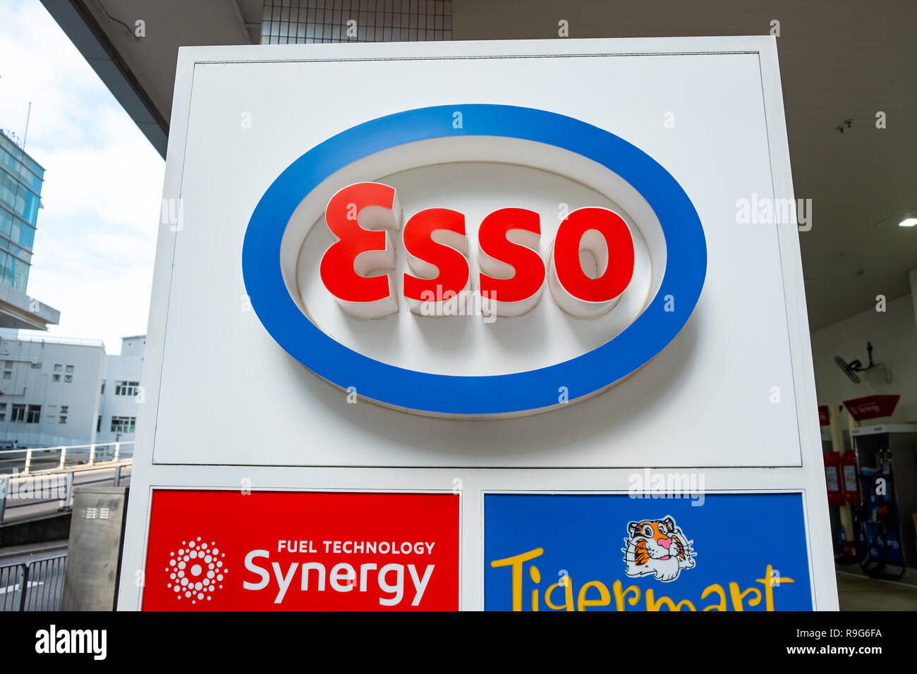 ESSO gasoline station. ESSO is a trading name for ExxonMobil and its related companies - Stock Image