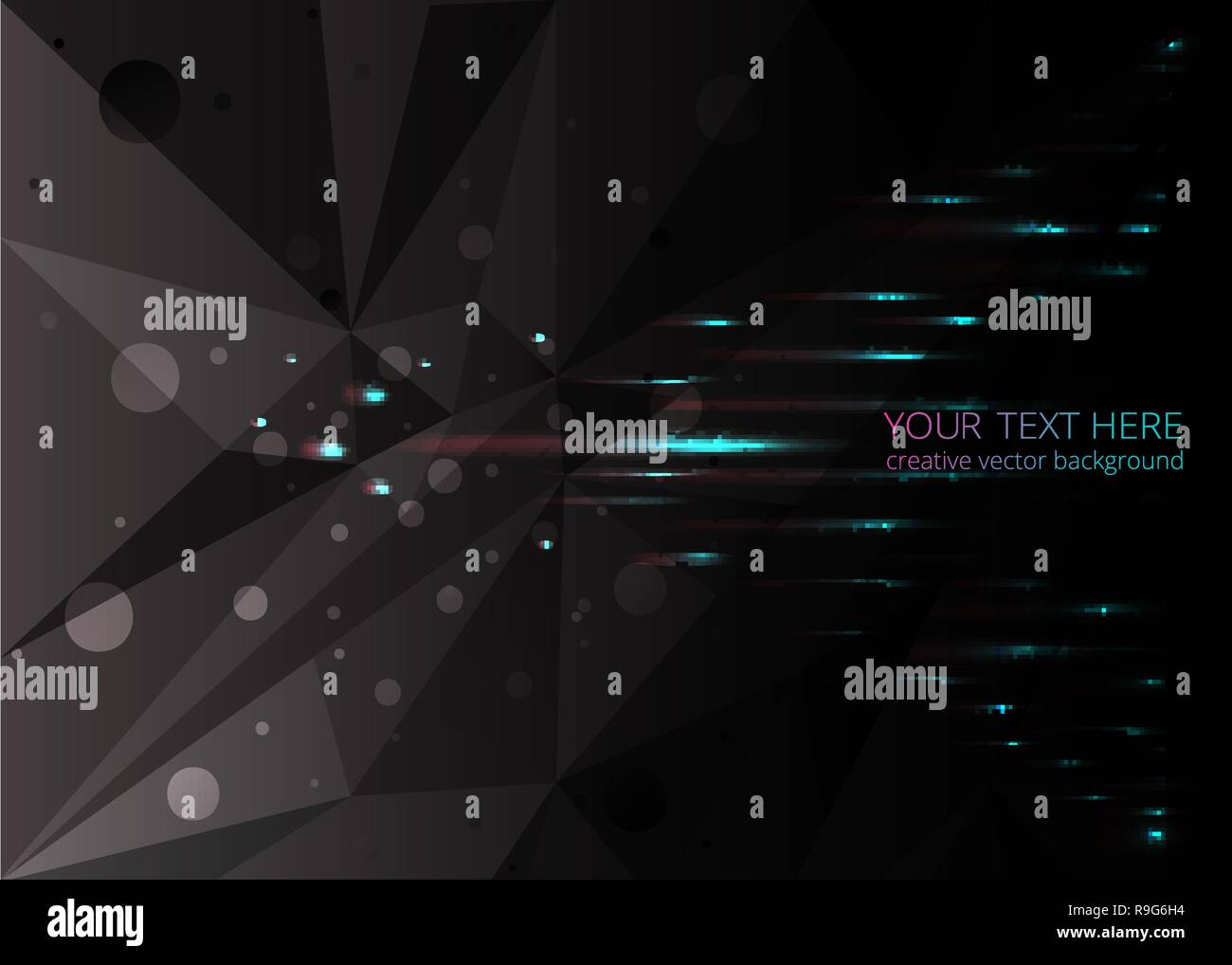 Low Poly Black Dark Grey Abstract Background Polygonal