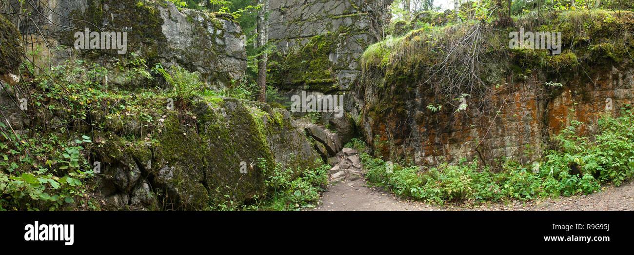 Remains of Wolf's Lair (german: Wolfsschanze), Führer's headquarters of Adolf Hitler, Rastenburg, Masuria, Poland, Europe Stock Photo