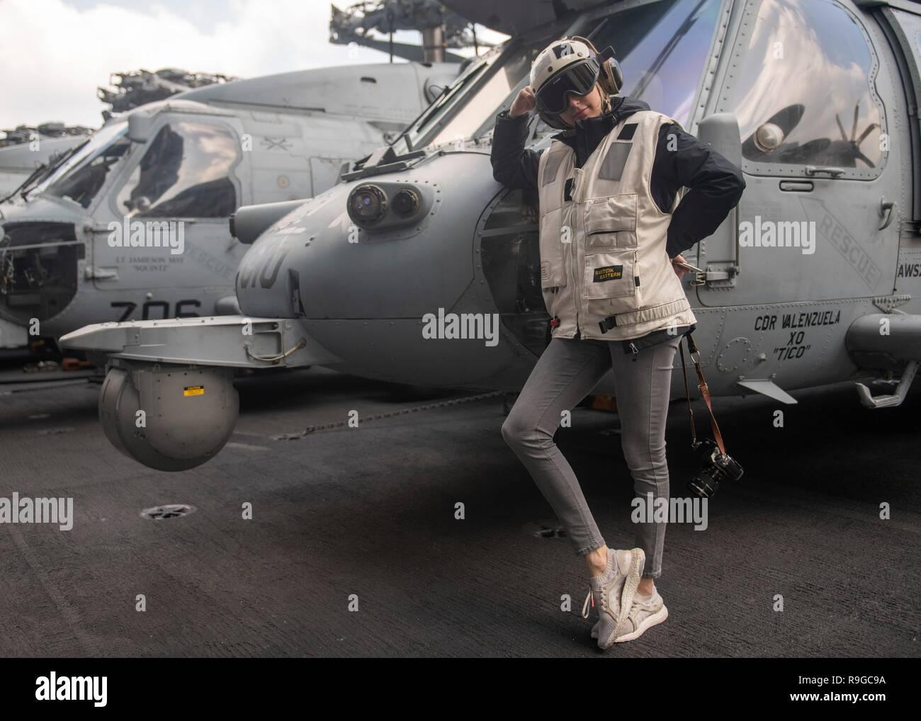 USS Stennis Air Craft Carrier, Oman  23rd Dec, 2018  Country